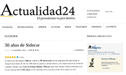 Sidecar a Actualidad24